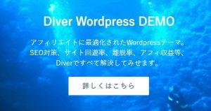 【特典あり】アダルトサイト利用可のワードプレステーマ『Diver』でできること&メリット!